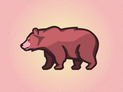Grizzly Bear vector illustration cub grizzly illo bear