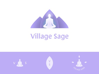 Village Sage symbol mark branding identity logo sage village african nature herbal health apothecary