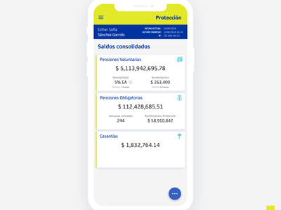 Saldos Consolidados appdesign materialui material interace cards app bank uidesign ui account