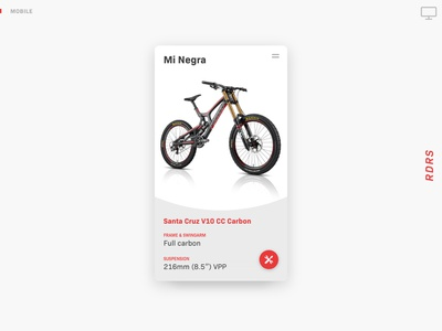 Riders interface ux ui identity concept sports web app animation responsive mountainbike mtb