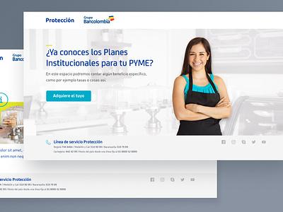 Landing page concept minimal financial bank landing website