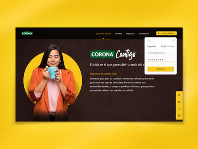 Hot Chocolate ☕ ui  ux creative website cocoa recipe tasty chocolate ui concept