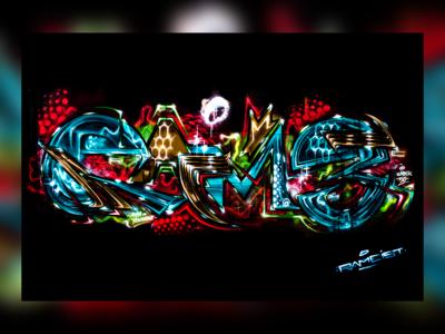 Colorful Graffiti on Wall
