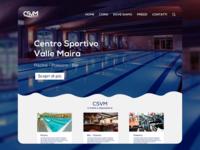 Centro Sportivo Valle Maira Website Concept