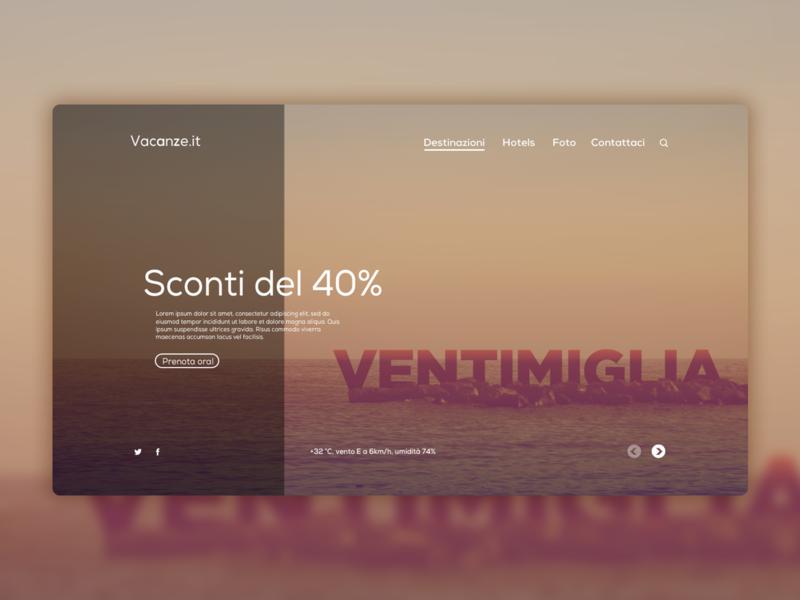 Vacanze.it Website Concept Design web website concept webdesign website