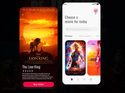 dribble movie app design