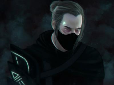 Cyberpunk Samurai Character Design