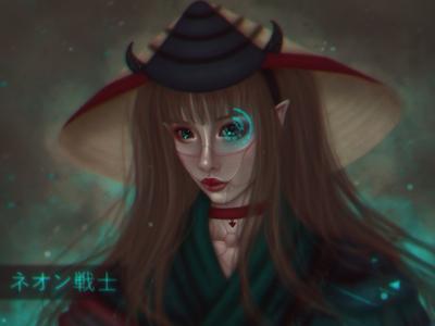 Samurai Girl Character Design