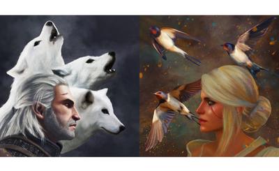 The Witcher 3 Wild Hunt Fan Art Geralt & Cirilla