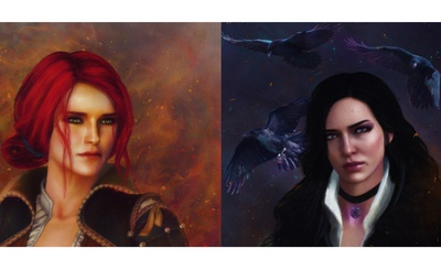 The Witcher 3 Wild Hunt Fan Art Triss &Yennefer