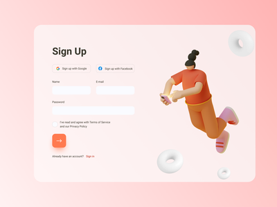 Sign Up form - Daily UI 001 script daily 100 challenge dailyuichallenge dailyui signup page sign up form sign up registration page registration form registration register form minimal figma design daily ui