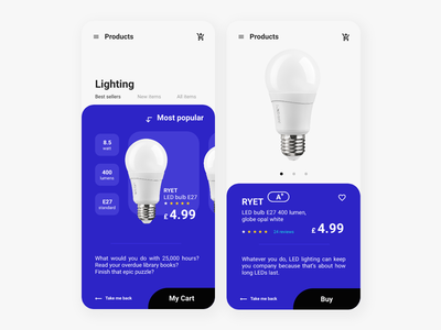 LIGHTING E-Commerce Mobile App