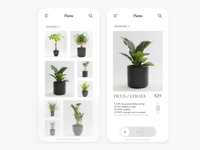 Planta Mobile App Shop UI