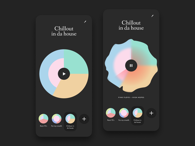 Stream audio player UI design player audio black app design stream music player music ios mobile app ux ui design