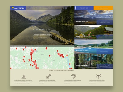Tourizm website design web flat design ui ux