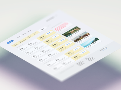 Booking tickets on the bus minimal flat design website web ux ui