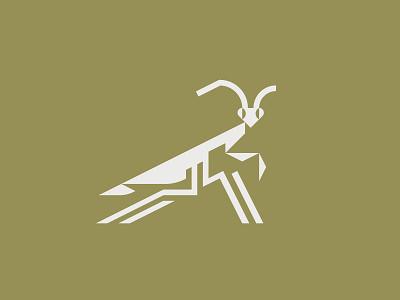Praying Mantis logo insects mantis praying mantis insect illustration vector minimal graphic flat illustrator design