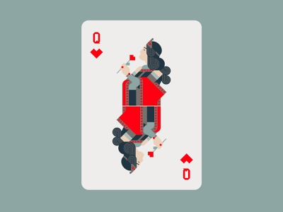 Queen Of Hearts queen of hearts queen playing card cards logo character minimal graphic flat illustrator design illustration