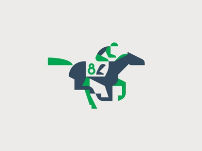 Jockey n°8 horse racing jockey horse logo horse brand logo character vector artwork minimal graphic flat illustrator illustration