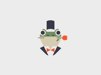 Fancy Frog frogs gentleman fancy frog logo character vector minimal graphic flat illustrator design illustration