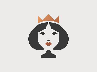 Queen of Spades cards queen of spades queen poker playing card logo vector graphic minimal illustrator design illustration