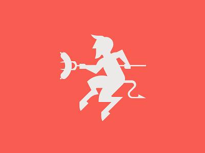 Evil Sausage bbq sausage devil evil character logo vector graphic minimal illustrator design illustration