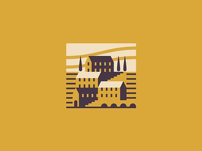 Sicily branding flat landscape italia logo vector graphic minimal illustrator design illustration