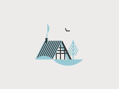 Wood Cabin home house cabin nature woods wood logo vector flat graphic minimal illustrator illustration