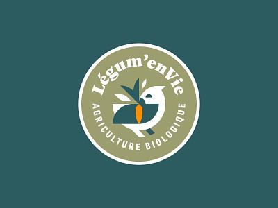 Organic Bird minimal flat vector logo illustrator graphic design illustration bird organic food farm organic