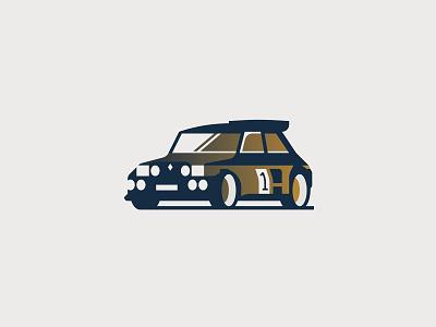 Renault R5 design sport renault graphic logo vector minimal illustrator illustration