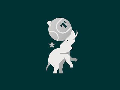 Elephant circus elephant logo flat vector minimal graphic illustrator design illustration