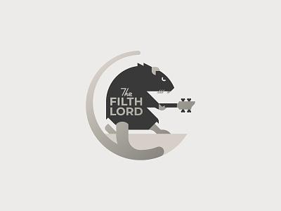The Filth Lord music hard rock rock rat character logo flat vector minimal graphic illustrator design illustration