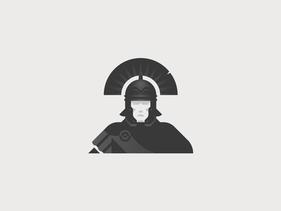 Centurion soldier centurion empire roman logotype flat vector minimal graphic illustrator design illustration logo