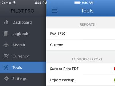Pilot Pro iOS - Tools