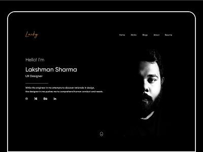 Portfolio portrait uxdesigner black monochromatic black and white portfolio website concept website website design design concept application design figma application ui ux ui