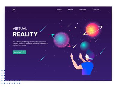 Virtual Reality- Landing page