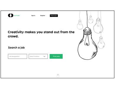 Job Finder website concept web landing page website design website webdesign concept ux application design adobe illustrator application ui ui illustration