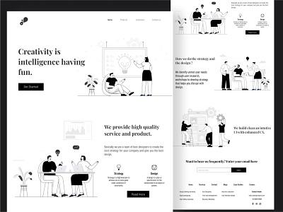 Designingism ux ui monochromatic website ui landing page agency website concept website landing page web design website adobe illustrator application ui illustration