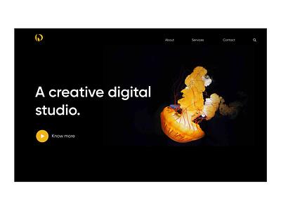 Creative Agency landing page design landing page concept concept creative agency landing page ui landing page website concept website design web design design application design figma