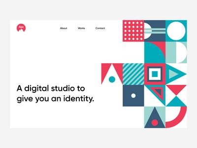 Alps- Landing Page landingpage website colors clean simple webdesign patterns concept shapes minimal layout geometry