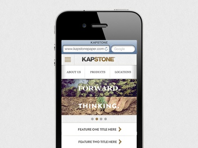 Paper Company Mobile Homepage