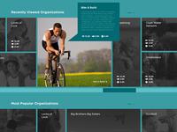 Charity Site Homepage