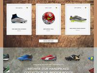Soccer Website Concept