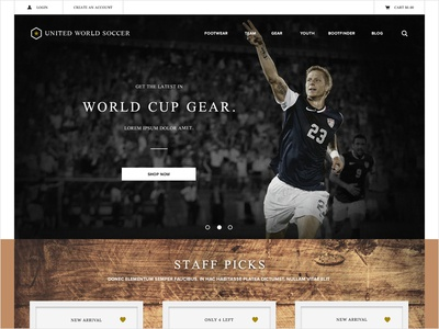 Soccer Website Concept Homepage