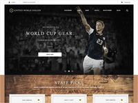 Soccer Website Concept Homepage