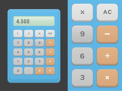 Calculator dailyui math web design calculator ux ui daily