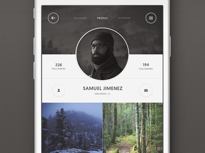User Profile Screen interface photography app dailyui web design mobile ux profile user ui daily