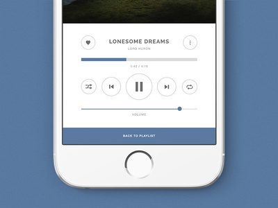 Music Player UI dailyui app design music ux ui daily