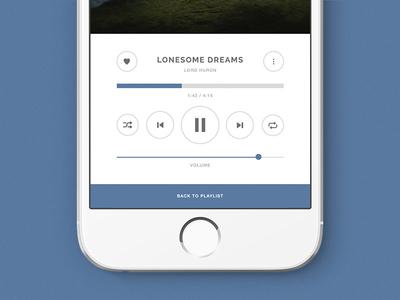 Music Player UI dailyui app design music ux ui daily