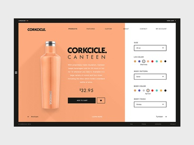 Product Commerce Page web design commerce texture color ux customize product ui daily ui